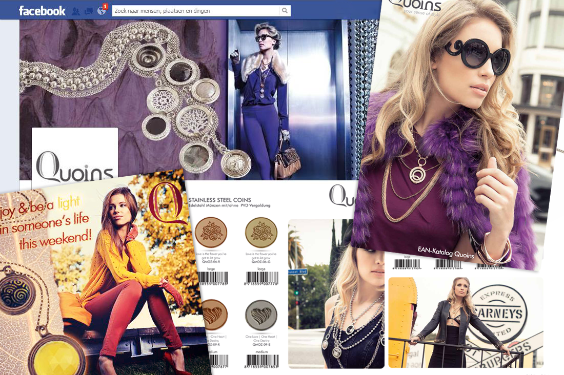 Social media en drukwerk designs Quoins