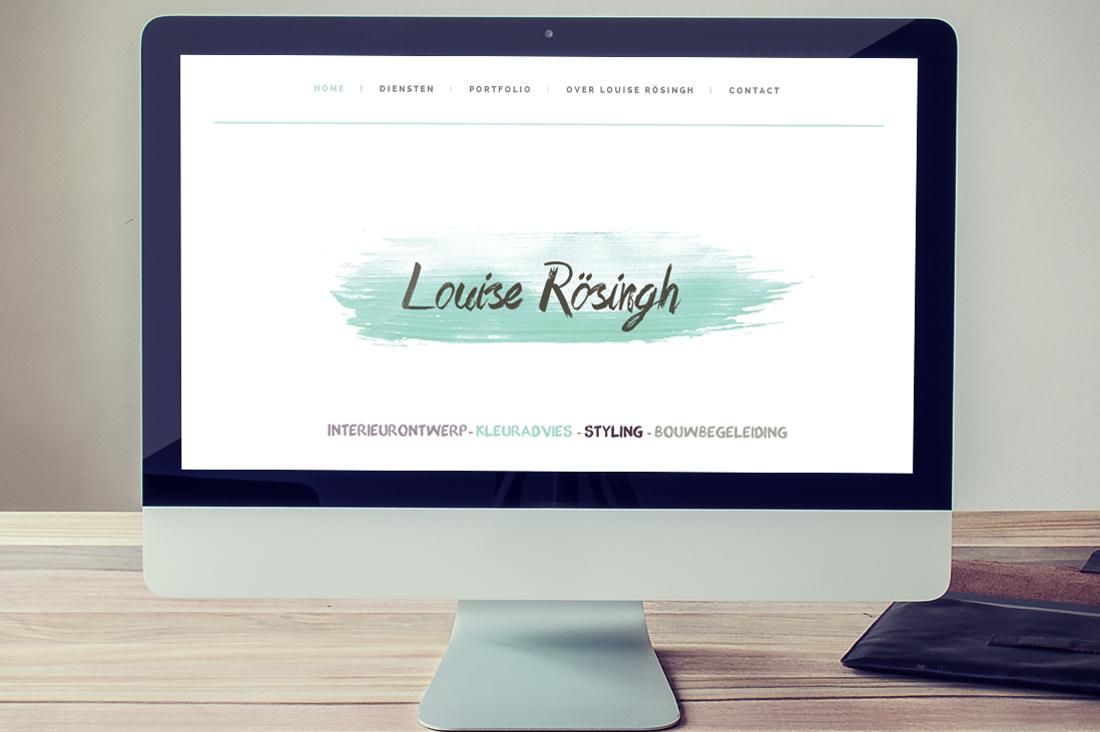 Design en invullen website Louise Rosingh