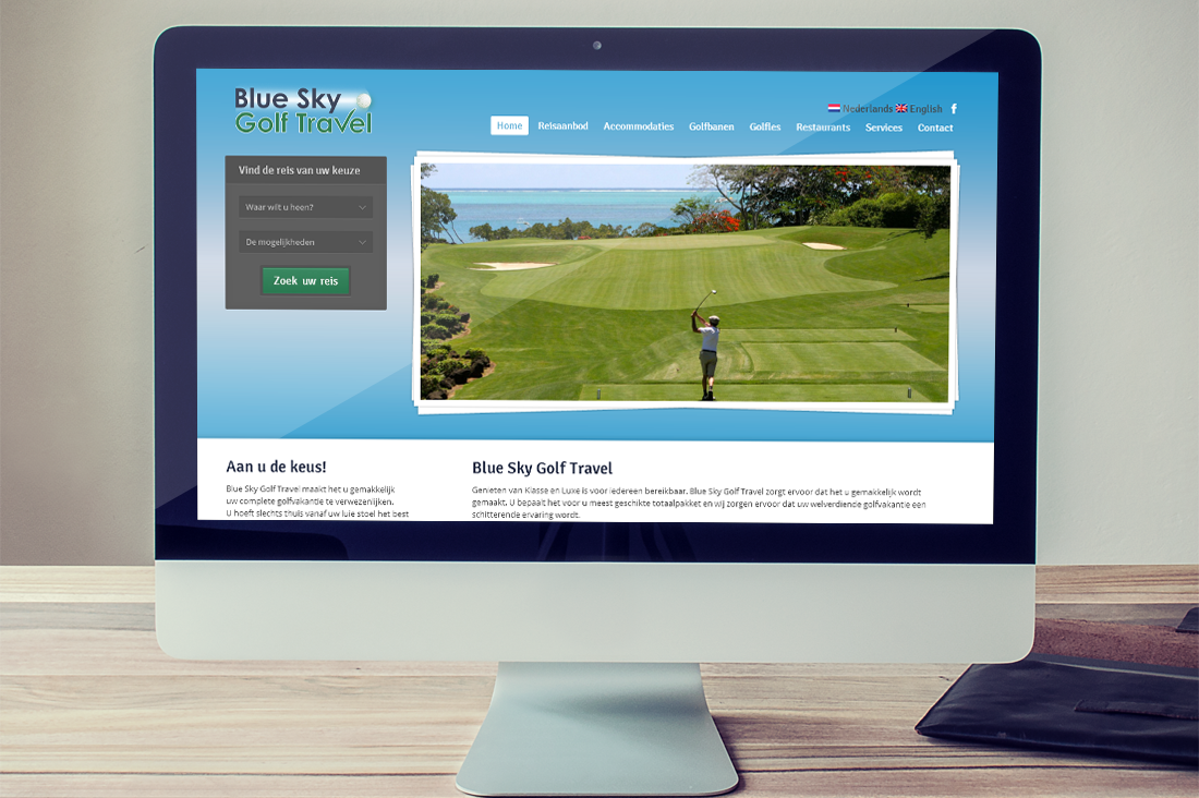 Screenshot Blue Sky Golf Travel.com